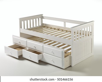 bed base with drawer bin