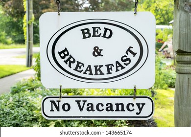 Bed & Breakfast Sign with No Vacancy