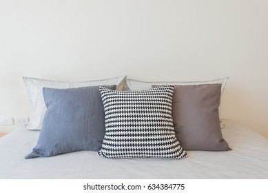 Bed and pillow in beauty room