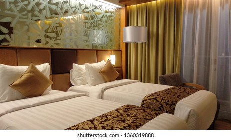 bed room hotel with batik interior