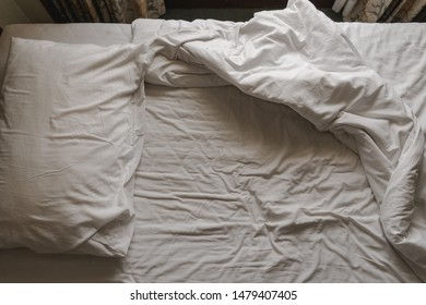 Bed is still wrinkled in the morning