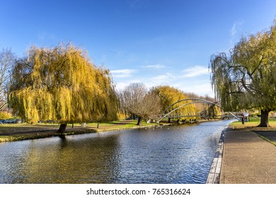Bedford embankment on the Great Ouse River