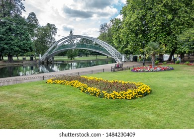 Bedford embankment on the River Great Ouse in the English county of Bedfordshire