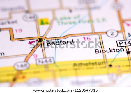 Iowa On Usa Map.Bedford Iowa Usa On Map Stock Photo Edit Now 1120547915 Shutterstock