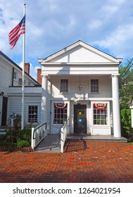 BEDFORD VILLAGE, NY,USA-JUNE 24:Post Office in historic building is seen in Bedford Village, New York, USA on June 24, 2018.