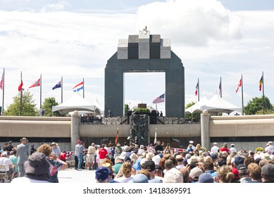 Bedford, Virginia / United States of America - June 06 2019 Vice President Mike Pence gives a speech at the National D-Day memorial in Bedford Virginia for the 75th anniversary of the Allied Invasion