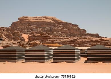 Bedouin Camp in the desert, Wadi Rum, Jordan