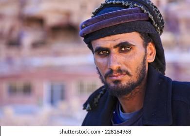 A Bedouin man in Petra, Jordan
