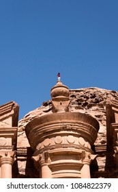 Bedouin Performing on top of Monastery at Petra Jordan