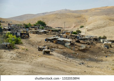 Bedouin settlements in the Judean desert near Jericho, Israel. 13-09-2015