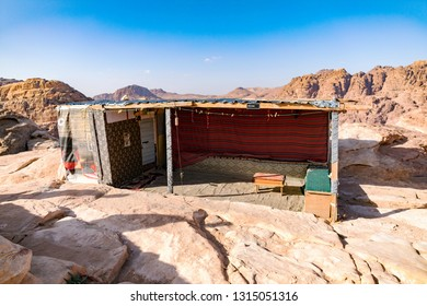 Bedouin tent in the ancient city of Petra. Jordan.
