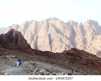 Bedouin tribe in the Mount Sinai, which is a mountain in the Sinai Peninsula of Egypt, Bedouin tribe here, they guide tourists to climb or hike the Mount Sinai by walking or camel riding. 2010-4