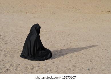 Bedouin woman in the desert