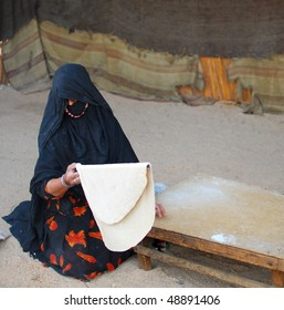 bedouin woman at work