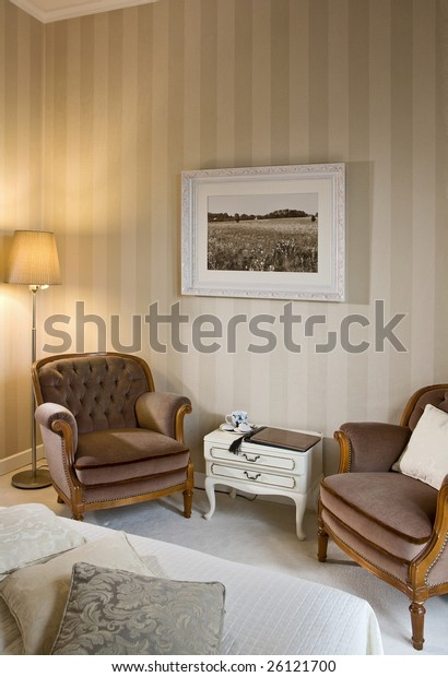 Bedroom Armchairs Stock Photo (Edit Now) 26121700