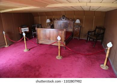 Atatürk's bedroom in the 'BANDIRMA' Steamboat. SAMSUN/TURKEY 13.08.2013