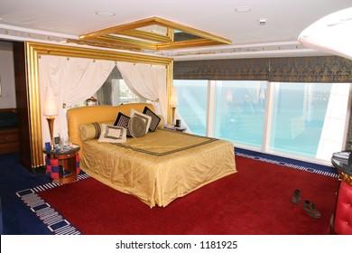 Bedroom at Burj al Arab