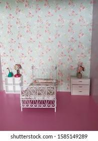 Bedroom decor of a dollhouse