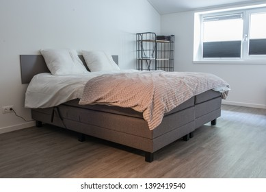Bedroom at homestay with pvc flooring