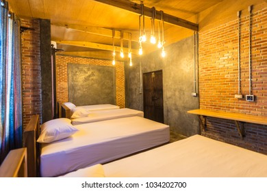 Bedroom interior in loft style
