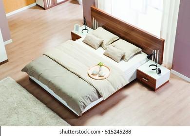 Bedroom interior top view