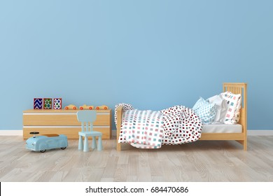 Bedroom for kid. 3d interior