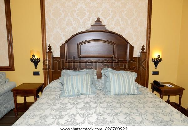 The bedroom in luxury hotel, Costa Dorada, Spain