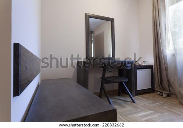 Bedroom Makeup Vanity Table Interiors Stock Image 220832662