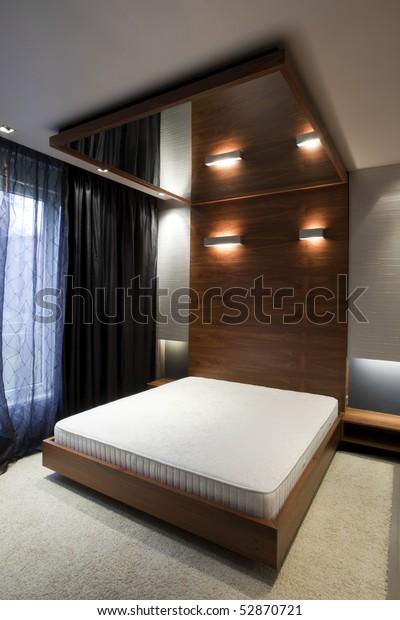 Bedroom Mirror On Ceiling Stock Photo (Edit Now) 52870721