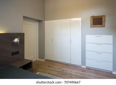 Bedroom modern interior.