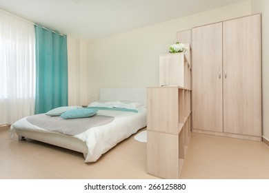bedroom in a nice apartment