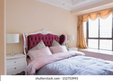 the bedroom with nice furniture