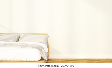 bedroom and relax area in apartment or hotel - Interior design - 3D Rendering