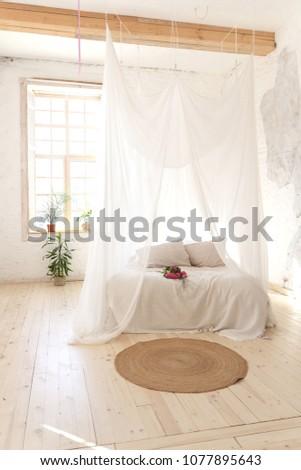 Bedroom Soft Light Colors Wooden Floor Stock Photo Edit Now