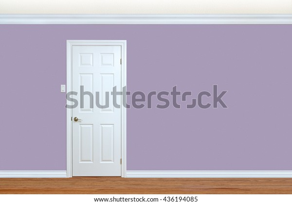 Bedroom Wall Door Baseboard Crown Molding | Royalty-Free ...