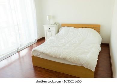 bedroom in white, white room, house