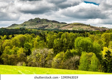 Bedrule, Hawick, Scottish Borders, UK. 3rd May 2019. Looking across the Rule Valley to Ruberslaw near Hawick in the Scottish Borders.