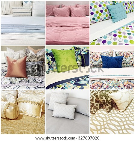 0d48c7c2c2e Beds Different Styles Bed Linen Collage Stock Photo (Edit Now ...
