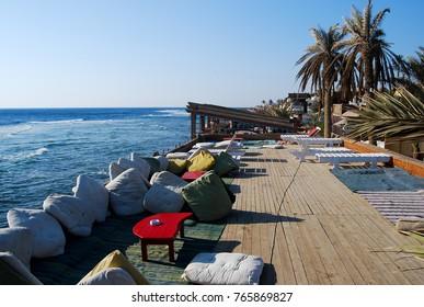 Beduin restaurant with sea view in Dahab village
