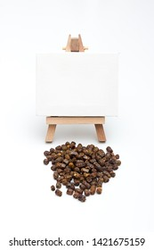 Bee bread, Perga on a white background with an easel for copy space
