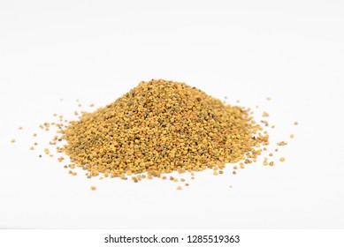 Bee pollen. Contains almost all of the nutrients required by the human body to thrive. Rich in vitamins,minerals,proteins,lipids,fatty acids,enzymes,carotenoids, bioflavonoids. Close up.