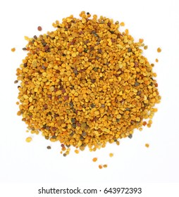 Bee Pollen on a white background