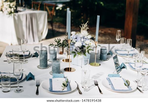 Beeautiful Wedding Table Decoration Decor Stock Photo (Edit Now ...