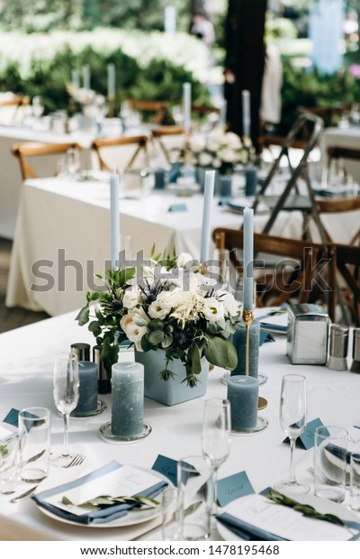 Beeautiful Wedding Table Decoration Decor Stock Image | Download Now