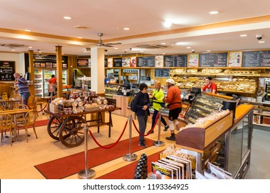 Beechworth, Australia - April 30, 2018: Beechworth Bakery is an iconic business started in 1984 by Tom O'Toole. It now has branches throughout Victoria.