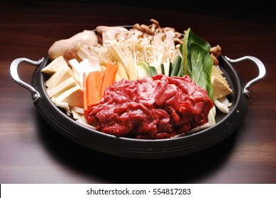 Beef bulgogi hot pot