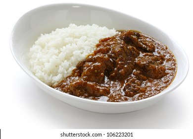 beef curry on rice, japanese food