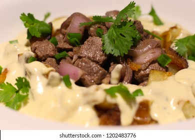 Beef Fillet and potato with gorgonzola cream