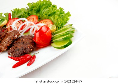 Beef kabab with salad for eid lunch or dinner