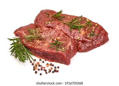 Beef meat, ready to cook, isolated on a white background.